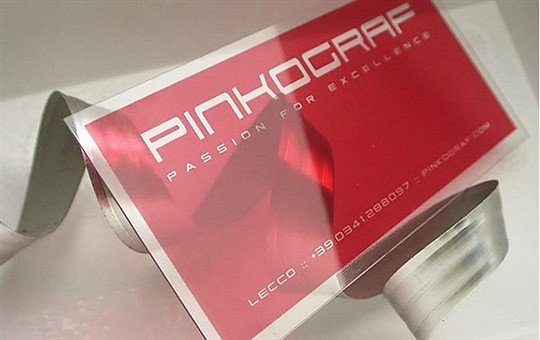 pinkograph business card
