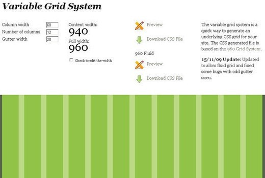Variable Grid System