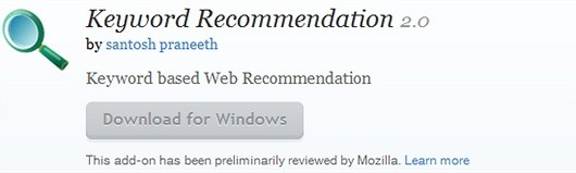 keyword recommendation