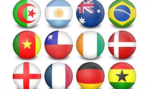 WorldCup Flag Balls 32 Icons