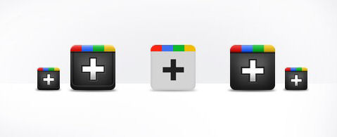 Google Plus Icons in PSD