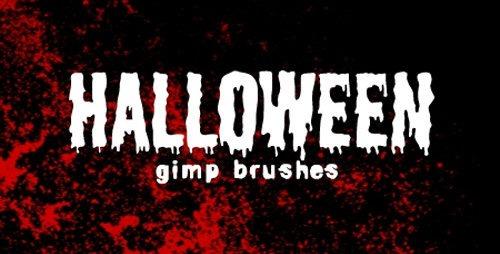 Halloween GIMP Brushes