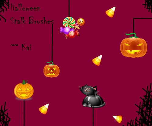 Halloween Stalk Brushes