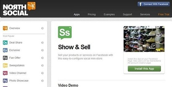 Show Sell eCommerce Shopping Cart Apps for Facebook