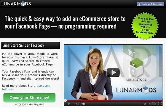 LunarMods eCommerce Shopping Cart Apps for Facebook