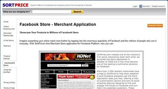 SortPrice eCommerce Shopping Cart Apps for Facebook
