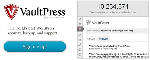VaultPress (Premium) WordPress Plugin