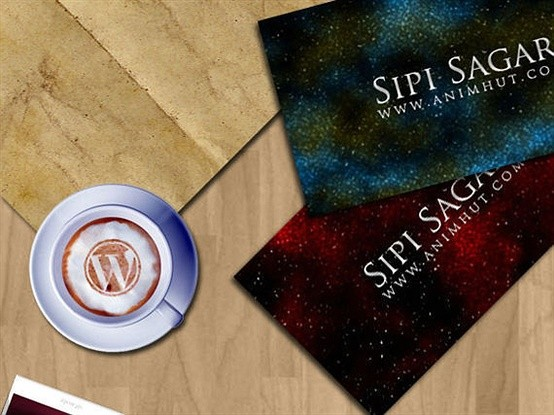 how to create a nebula background business card