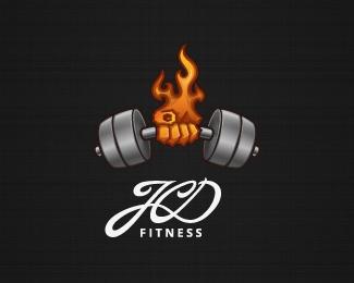 JCD Fitness Logo Design