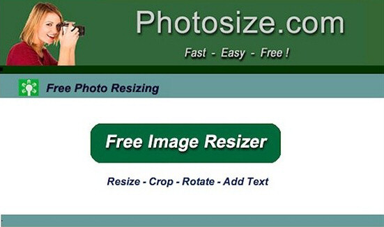 online photo resizing and format conversion tool
