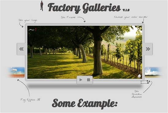 factory galleries jquery slider plugin