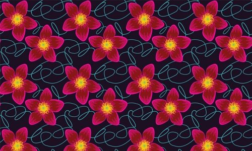 i love u floral pattern