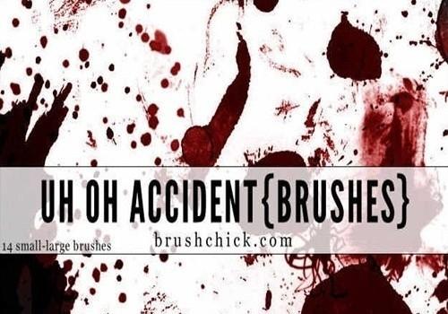 uh oh accident, splatter brush pack