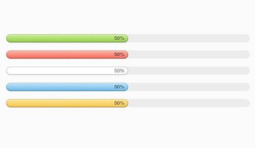 multi-coloured progress bars psd web element