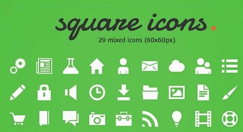 square icons 2.0 (psd) psd web element