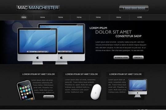 inspired by mac - free psd website template