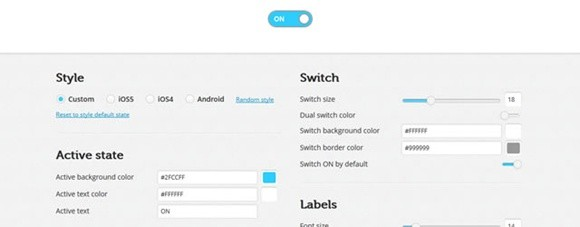 on /off flipswitch html5/css3 generator