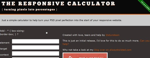 rwd calculator – turning pixels into percentages