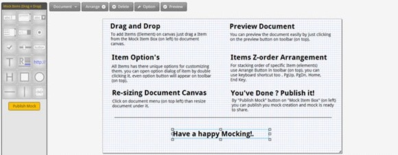 mocknow – an online wireframing sharing tool