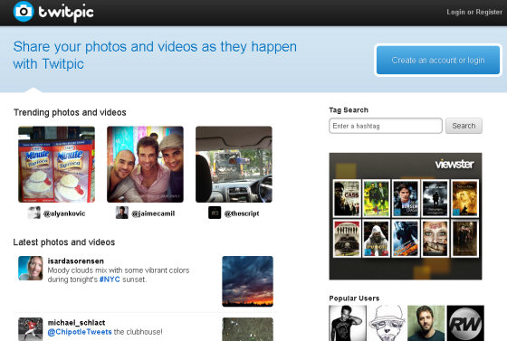twitpic - images and photo sharing