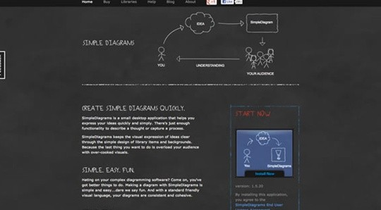 simple diagrams wireframe tool