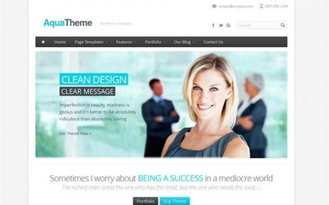 aqua – responsive business wordpress template