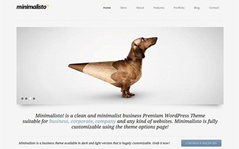 minimalistico – clean wordpress theme