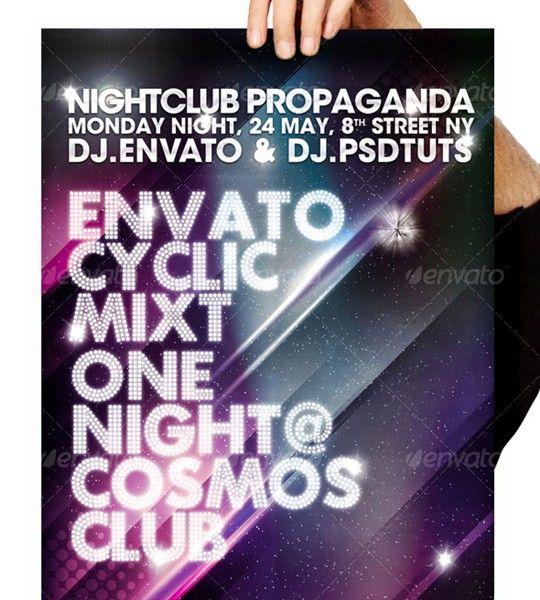 cosmos summer party / nightclub poster & flyer