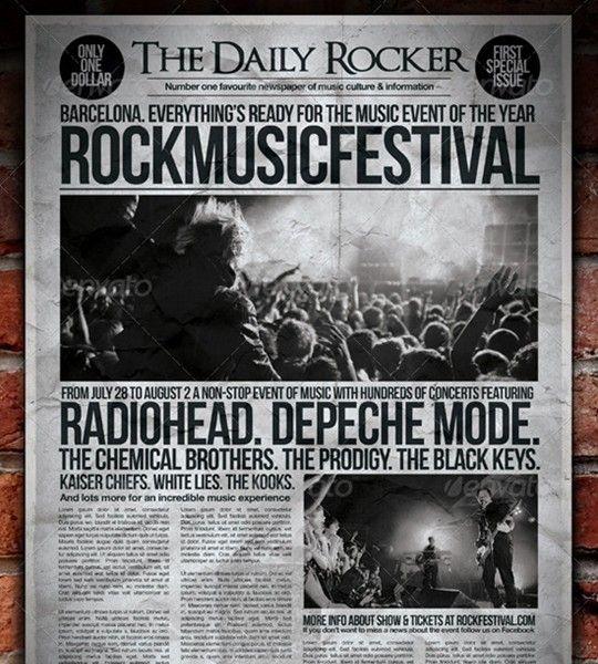 grunge newspaper flyer poster
