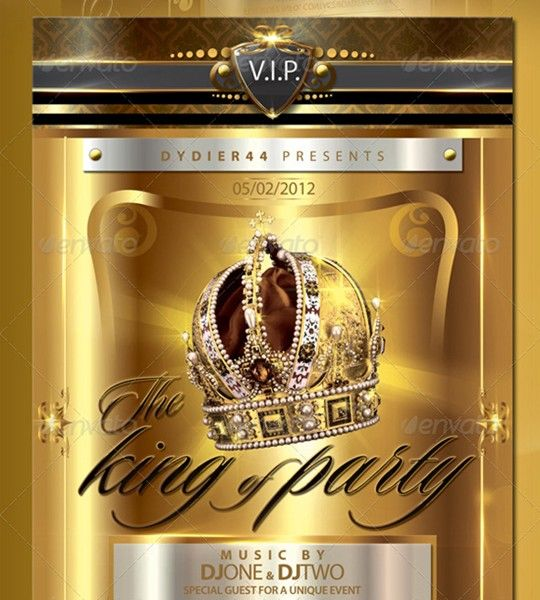 v.i.p gold deluxe flyer template