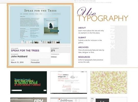 use typography
