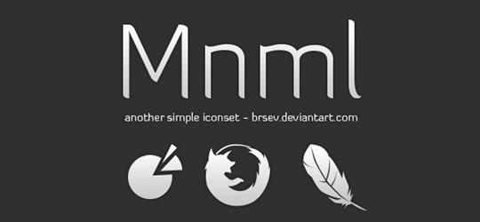 mnml icon set