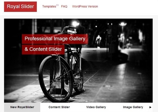 royal slider – touch – enabled jquery image gallery