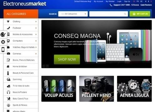 gala electronues market responsive theme