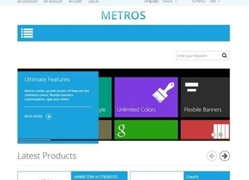 metros - minimalist responsive metro style theme