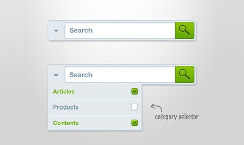 search form (free psd)