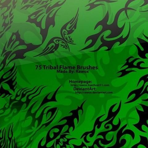 75 tribal flame brushes