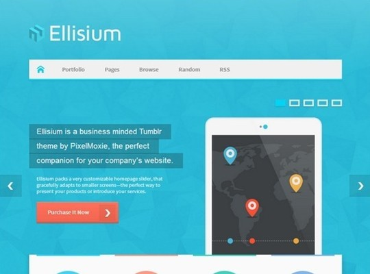 ellisium – a business minded tumblr theme