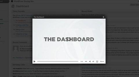 wordpress video training dashboard widget
