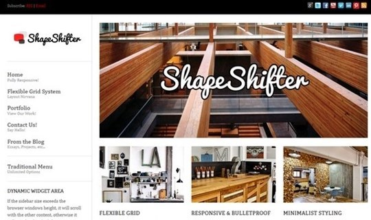 shapeshifter 2: responsive flexible one page