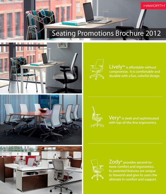 2012 haworth seating promotions brochure