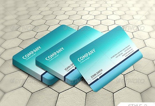 photorealastic business card mock-up .