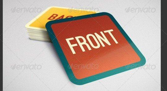 square business card mock-up v.2