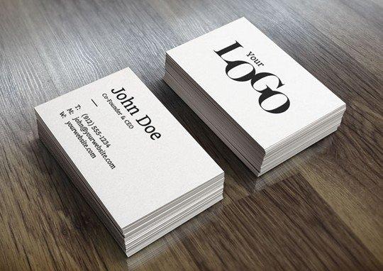 realistic business card mockup (free)