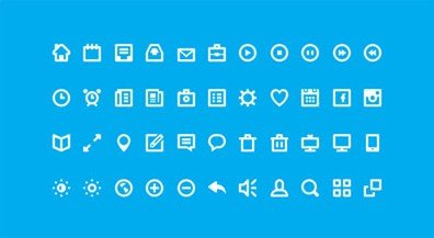 44 shades of free flat icons