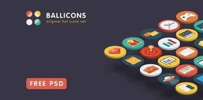 15 free flat ballicons
