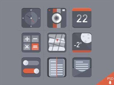 free flat icon set - barry mccalvey