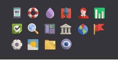 16 flat design icons set vol4