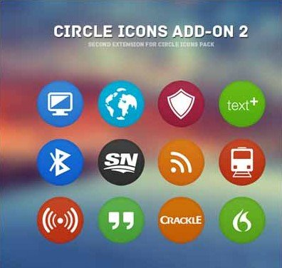 circle icons pack add- on 2