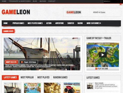gameleon wordpress game theme